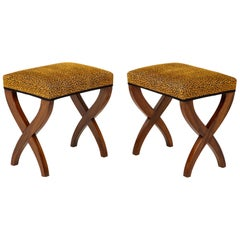 Pair of French Empire Curule Benches
