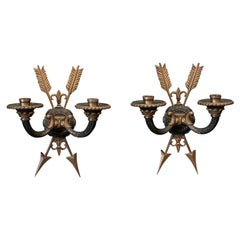 Pair of French Empire Revival Sconces