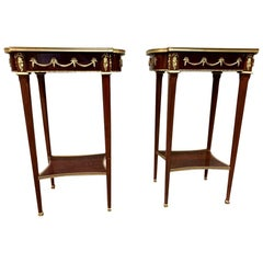 Pair of French Empire Side Tables, 20th Century