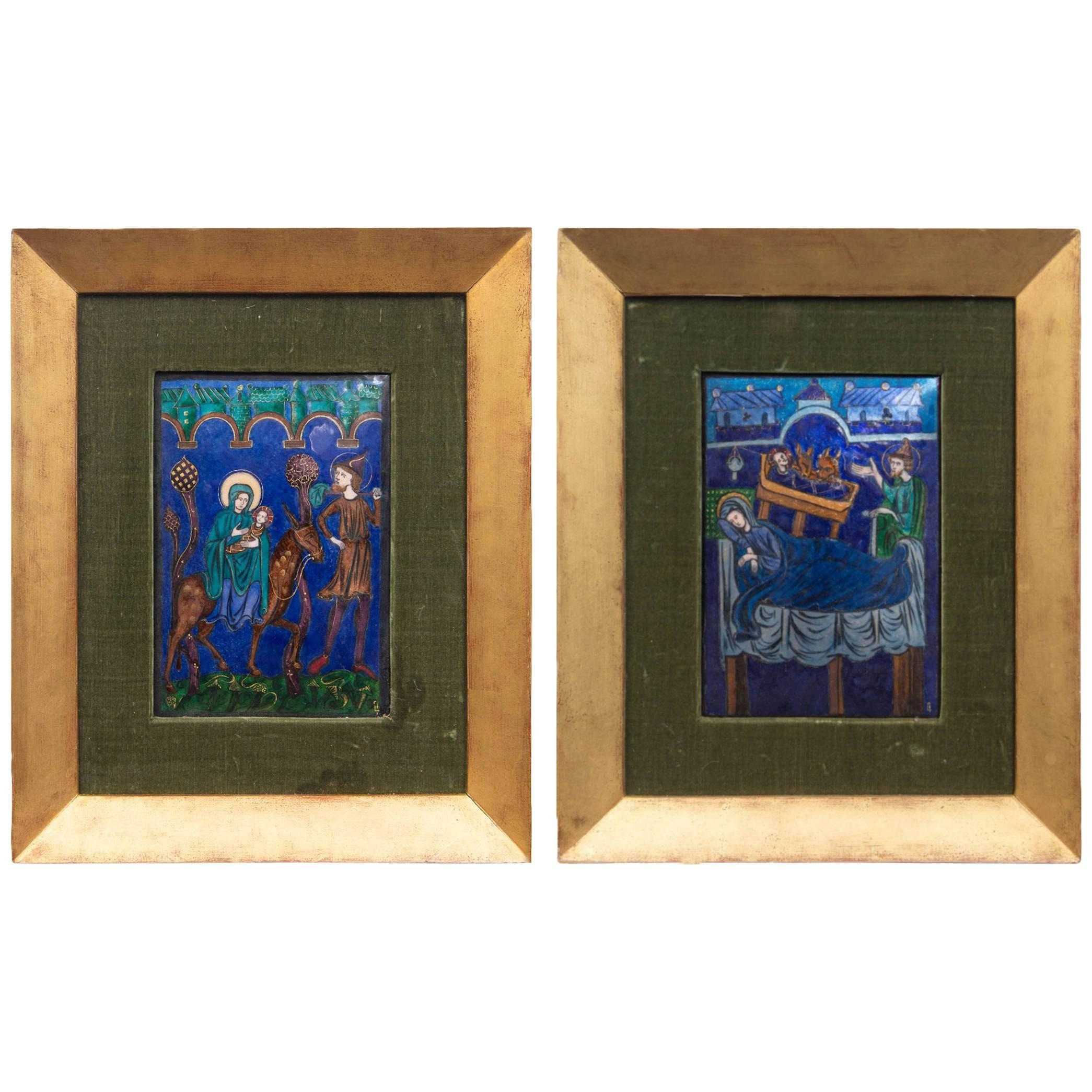 Pair of French Enamels on Copper