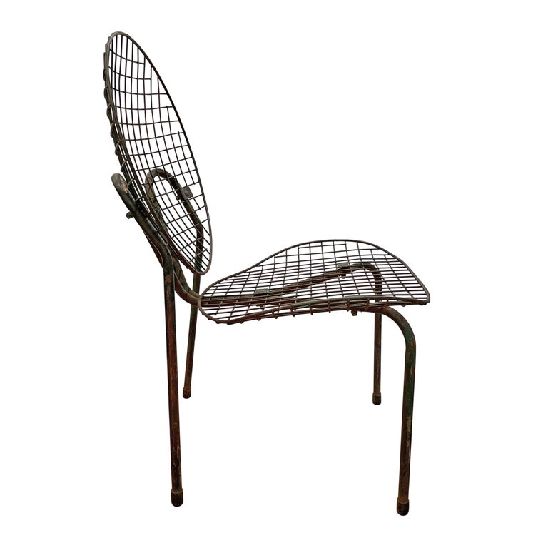 Pair of French Garden Chairs For Sale 1