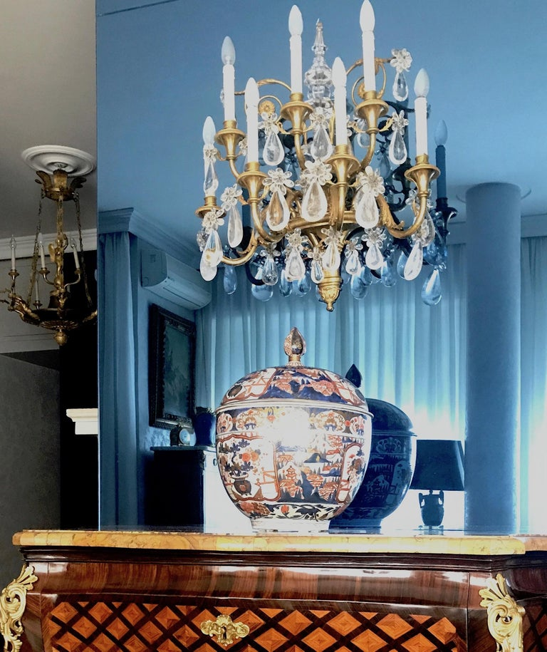 Pair of French Gilt Bronze and Rock Crystal Wall Lights or Sconces Neoclassical In Excellent Condition For Sale In Rome, IT