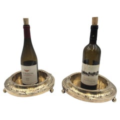 Pair of French Gilt Silver Magnum Bottle Coasters from the JP Morgan Collection