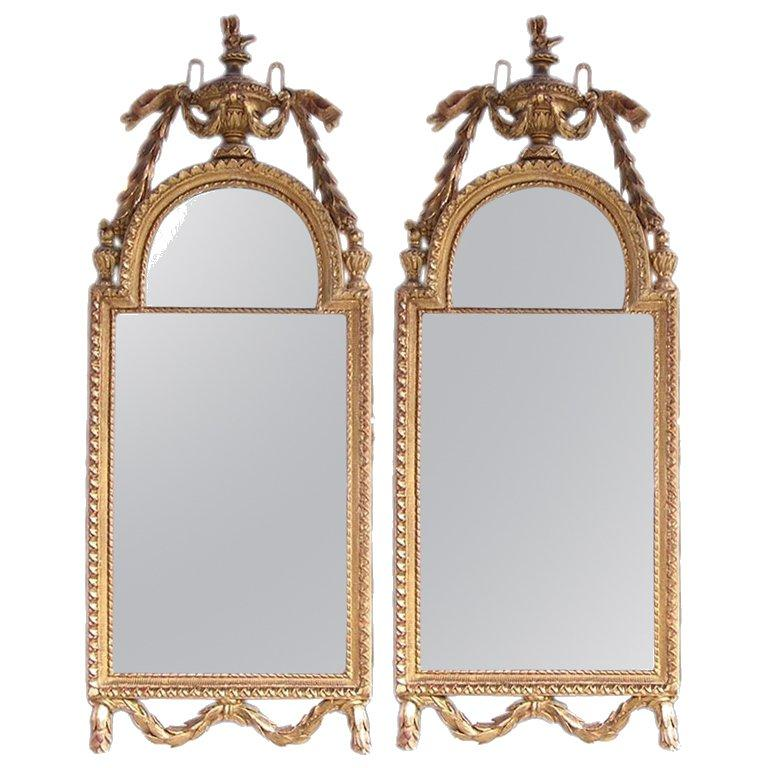 Pair of French Gilt Wall Mirrors