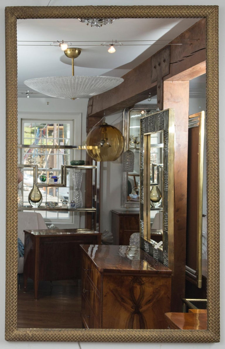 Neoclassical Pair of French Gilt-Wood Mirrors