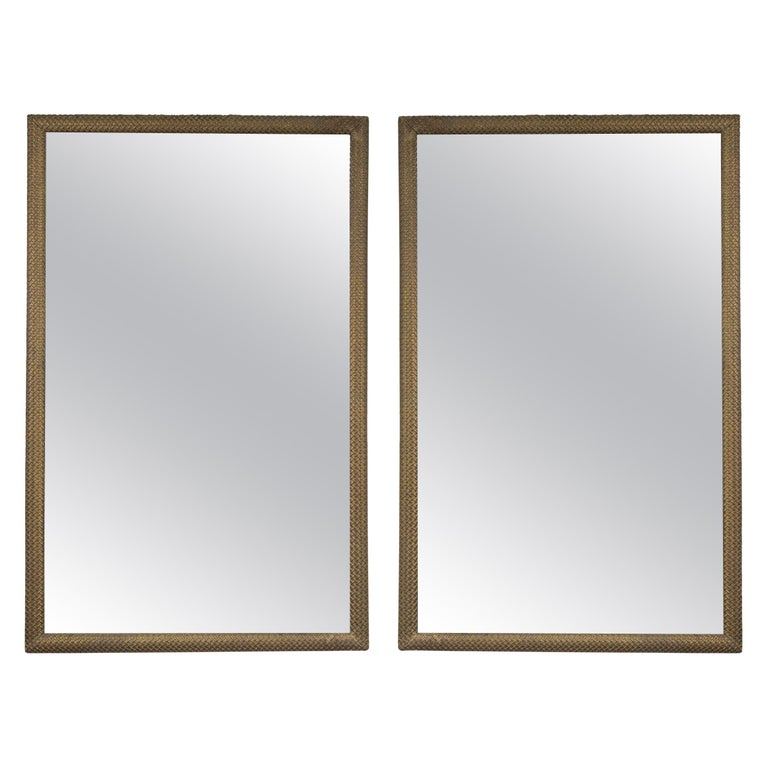 Pair of French Gilt-Wood Mirrors