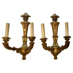 Pair of French Giltwood Sconces