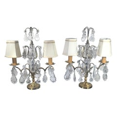 Pair of French Girondole Candelabra Lamps