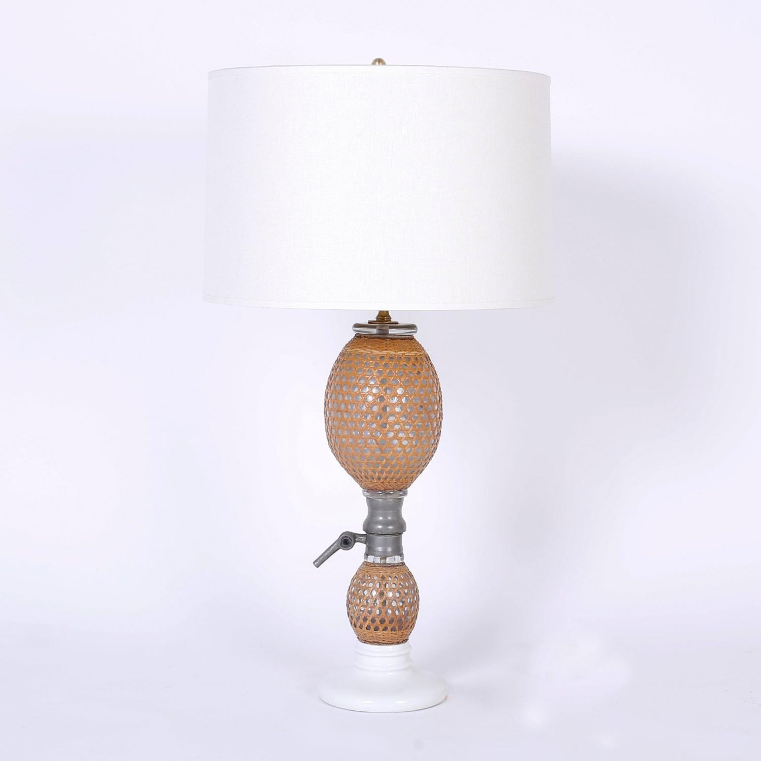 Pair Of French Glass Bottle Table Lamps For Sale At 1stdibs