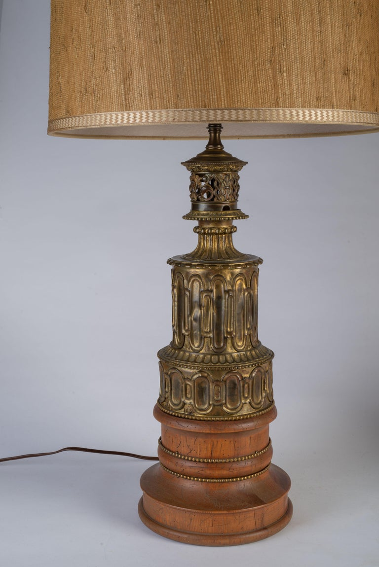 Raised on later circular brass-mounted wood bases.