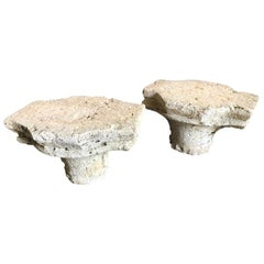 Pair of French Gothic Stone Capitals