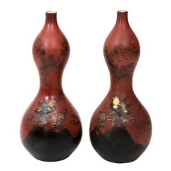 Pair of French Gourd Vases, circa 1880