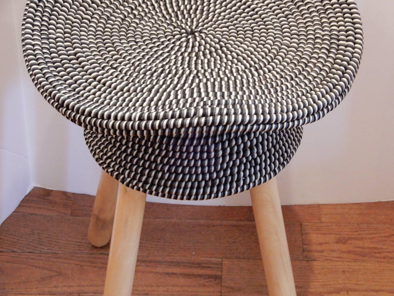 Modern Pair of French Hat Stools For Sale