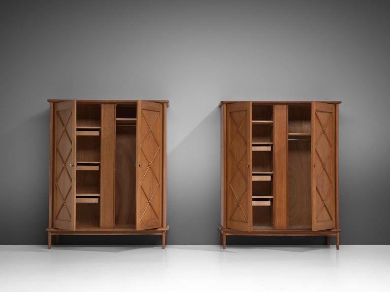 Mid-20th Century Pair of French High Boards in Oak For Sale