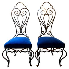 Pair of French Iron Chairs Attributed to Jean-Charles Moreux