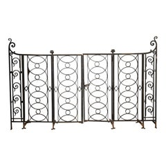 Pair of French Iron Gates, Early 20th Century