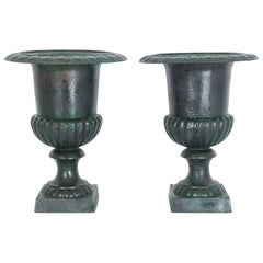 Pair of French Iron Planters, 1920s