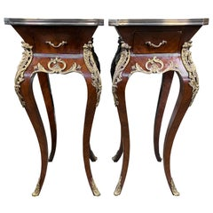 Pair of French Kingwood Side Tables, 20th Century