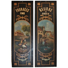 Pair of French Kitchen or Cafe Boards /Signs
