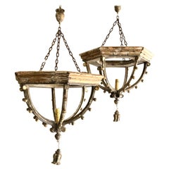 Pair of French Large Lanterns with 18th Century Elements