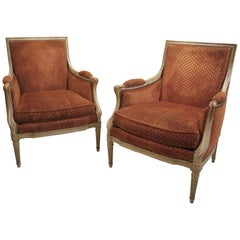 Pair of French Late 18th Century Louis XVI Bergères