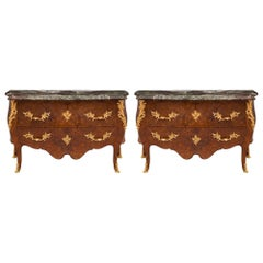 Pair of French Late 18th/Early 19th Century Louis XV St. Commodes
