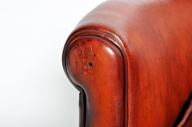 Pair of French Leather Armchairs For Sale 7