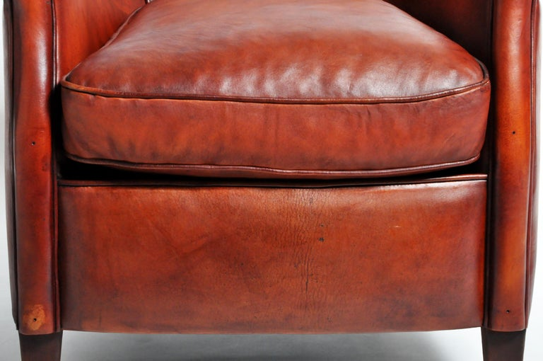 Pair of French Leather Armchairs For Sale 10