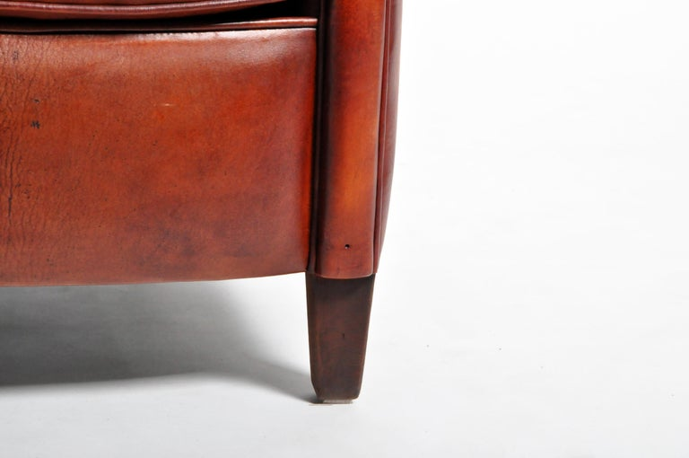 Pair of French Leather Armchairs For Sale 11