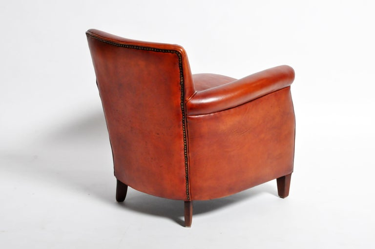 Pair of French Leather Armchairs For Sale 13