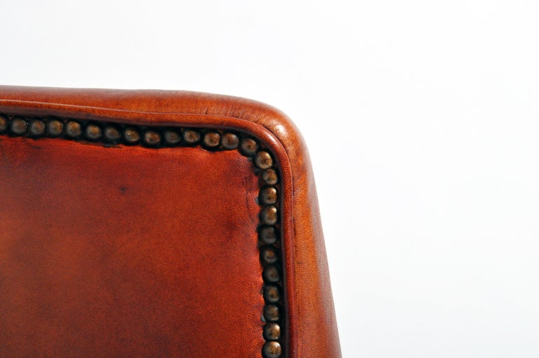 Pair of French Leather Armchairs For Sale 14