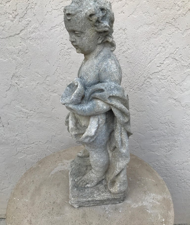 Pair of French Limestone Putti For Sale 2