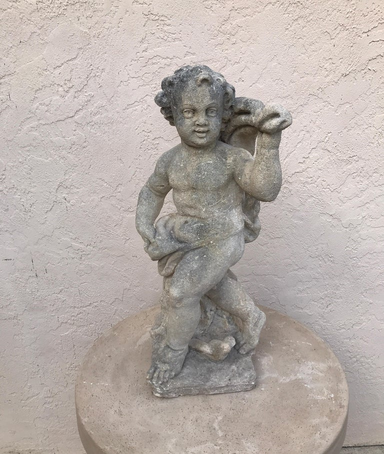 Pair of French Limestone Putti For Sale 4