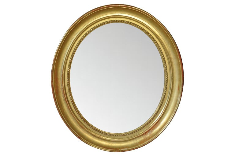 Pair of French Louis Philippe 19th Century Mirrors In Good Condition For Sale In Atlanta, GA