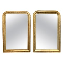 Pair of French Louis Philippe Gold Leaf Mirrors