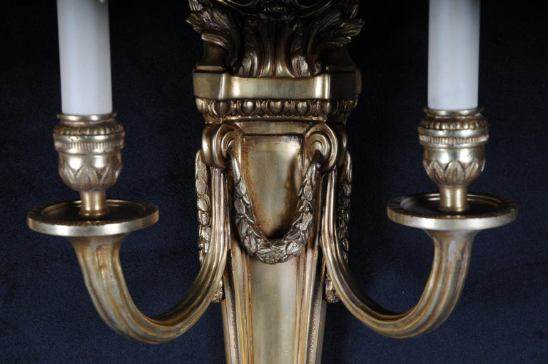 Pair of French Louis-Seize Sconces or Appliques For Sale 1