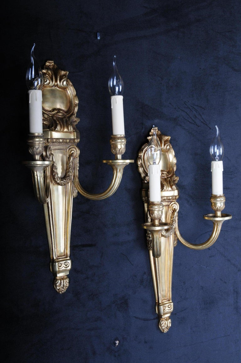 Pair of French Louis-Seize Sconces or Appliques For Sale 3