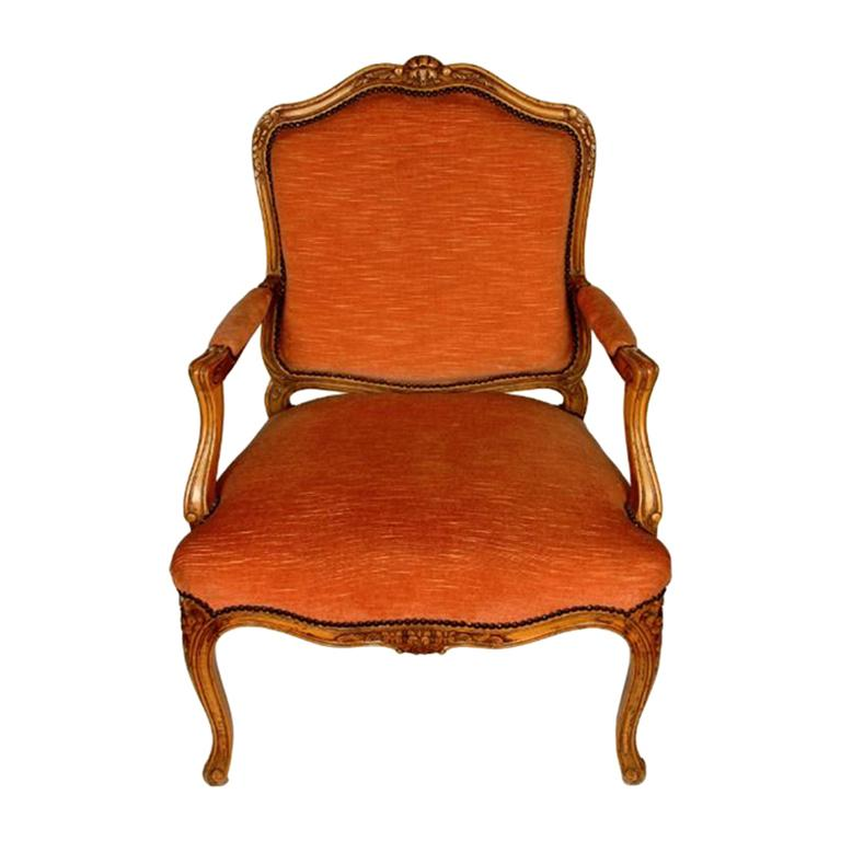 Pair of French Louis XV Style Fauteuils, circa 1940