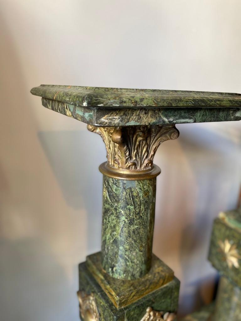 Pair of French Louis XV Style Marble Pedestals/Stands For Sale 5