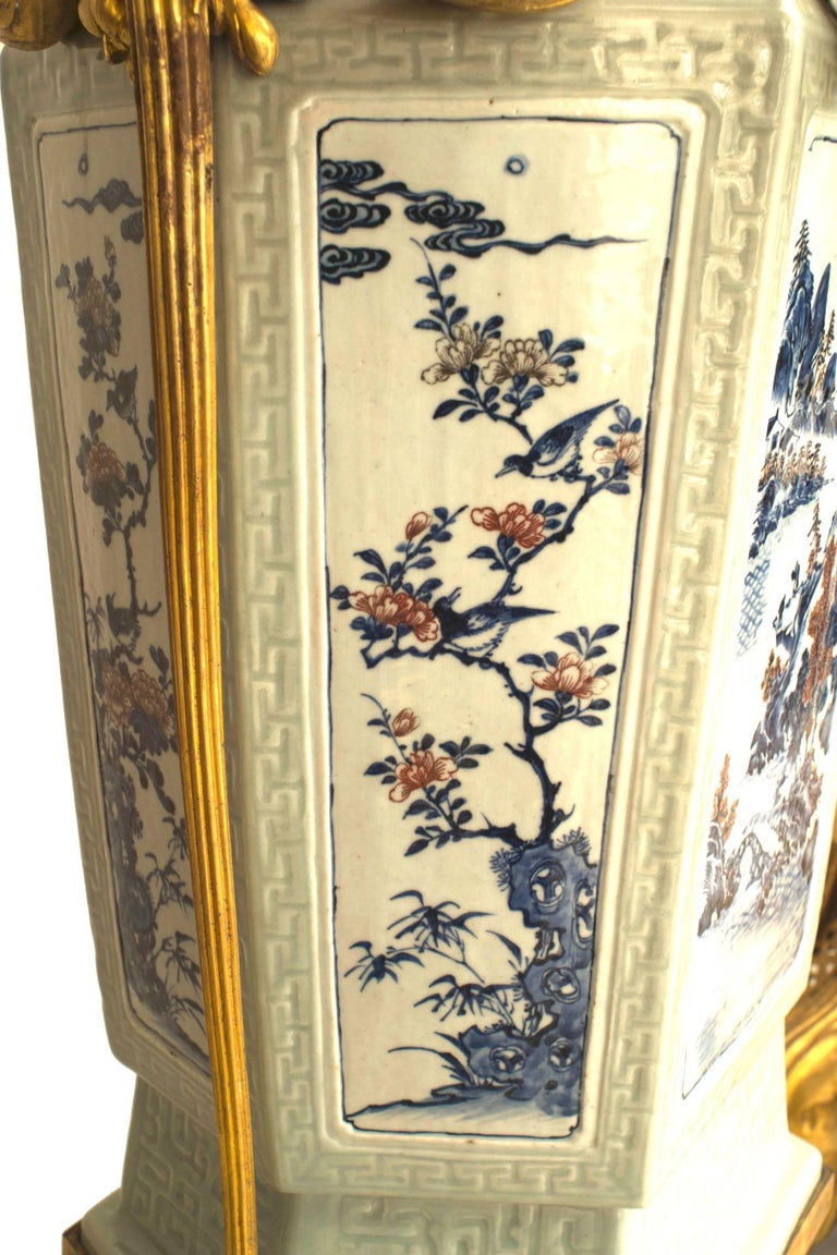 Pair of French Louis XV Style Pedestals, 19th Century For Sale 6