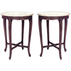 Pair of French Louis XV Style Provincial End Tables