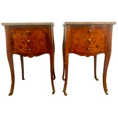 Pair of French Louis XV Style Stands, End Tables, Side Tables or Night Tables