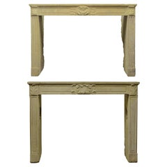 Pair of French Louis XVI Fireplace Mantels