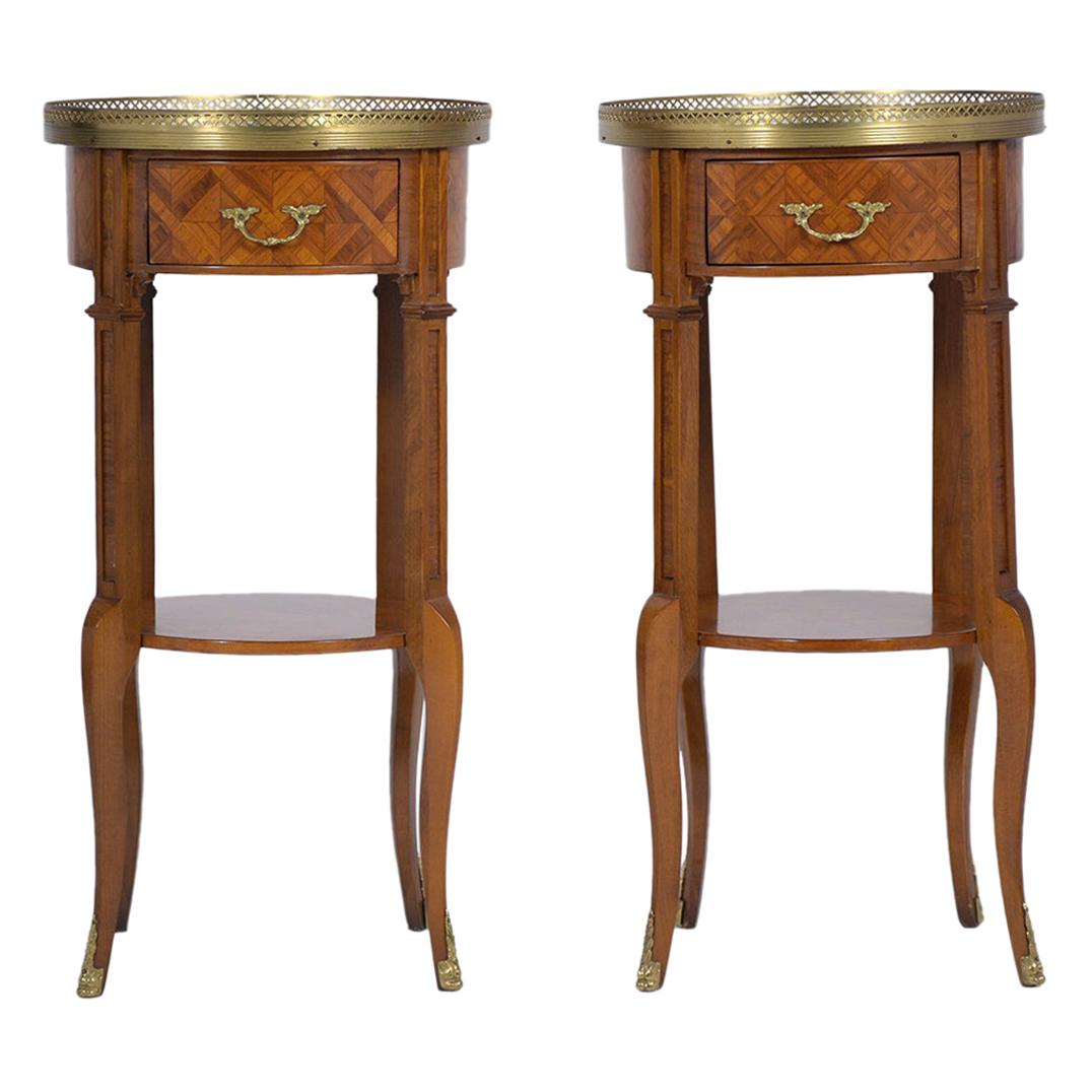 Pair of French Louis XVI Side Tables