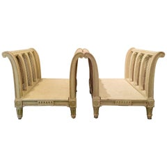 Maison Jansen pair of French Louis XVI Style Caned Stands