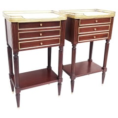 Pair of French Louis XVI Style Side Tables