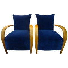 Pair of French Lounge Chairs in the Manner of André Arbus