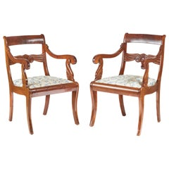 Pair of French Mahogany Carver Chairs, circa 1880