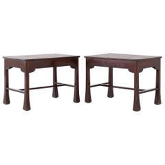 Pair of French Mahogany Side Tables