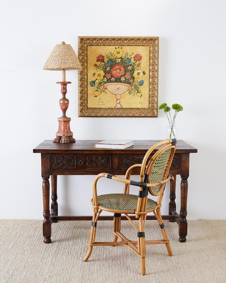 Cafe Furniture For Sale: Pair Of French Maison Gatti Rattan Cafe Bistro Chairs For